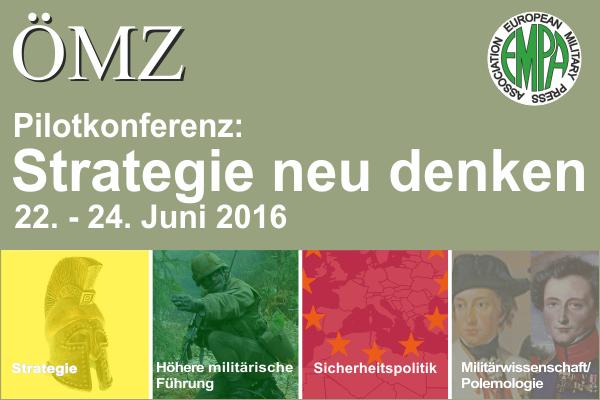 "ÖMZ Pilotkonferenz 2016 ""Strategie neu denken"""